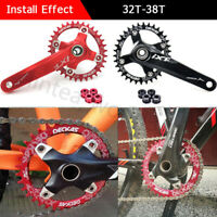 104BCD Round Oval Narrow Wide Chainring 32T 34T 36T 38T Crankset Single Tooth US