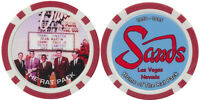 The Rat Pack Sands CASINO Fantasy Chip Las Vegas Nevada NEW Free Shipping *