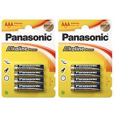 8x AAA Alkaline Power PANASONIC- LR03 Micro LR3 - BATTERIEN - 1,5 Volt * Size S