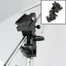 Flash Hot Shoe Adapter Trigger Umbrella Holder Swivel Light Stand Bracket B Type