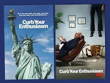 Curb Your Enthusiasm Larry David Seinfeld HBO licensed poster two posters