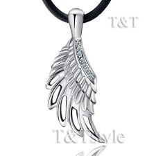 Top Quality T&T 316L Stainless Steel Angel Wing Pendant Necklace (NP200)