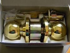 Uscan Grade 2 Entrance Lock Polished Brass- Weiser WR5 Keyway