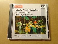 2-DISC CD / RIMSKY, KORSAKOV, SVETLANOV: SHEHERAZADE - SYMPHONIES