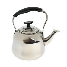 Stainless Steel 2L Whistling Tea Kettle Outdoor Camping Fishing Hiking