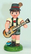 Junge mit Gitarre, Miniaturen von Hubrig Volkskunst Erzgebirge 308h1000
