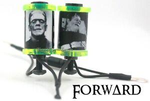 "1.25"" Tattoo Machine 8-32 10 wrap Coils Lime Washers Custom Frankenstein's Monst"