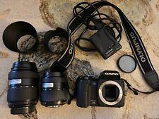 Olympus  E-500 8.0MP Digital SLR Camera & LENS 14-45mm & 40-150mm Flash & Case