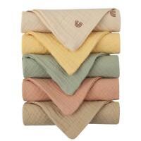 5pcs Baby Feeding Towel Soft Gauze Bath Towel Newborn Saliva Towel Burp Cloth