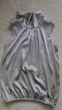ARTIGIANO Bluse aus Seide, Gr. 34, Silbergrau