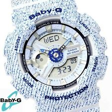 CASIO BABY-G WATCH BA-110DC-2A3 FREE EXPRESS BLUE DENIM PATTERN BA-110DC-2A3DR