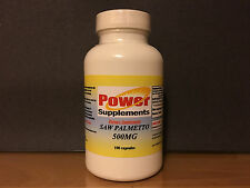 Saw Palmetto 500mg, prostrate health, urinary flow - 100 capsules. Made in USA.