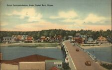 Onset Bay Cape Cod Point Independence Linen Postcard