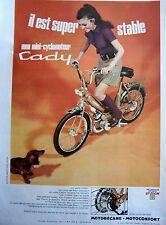 publicité de presse  MINI CADY  DE  MOTOBECANE   en 1968  ref. 30846