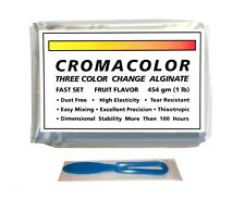 1lb Cromacolor Three Color Change Alginate Fast Set Fruit Flavor With Spatula