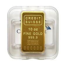 10 oz Credit Suisse Gold Bar .9999 Fine (w/Assay)