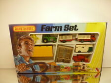 MATCHBOX G-6 G6 FARMSET - TRACTOR HORSE TRANSPORTER COMBINE - EXCELLENT IN BOX