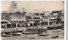 Egypt; Port Said, Harbour Wall & Quayside Shops RP PPC, 1950s