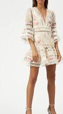 BNWOT Zimmermann Laelia Diamond Flutter Dress - Meadow Floral Size 0/6AU/XS