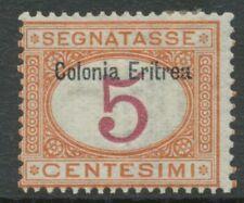 ITALIENISCH-ERITREA 1903 Ziffernzeichnung Italien Portomarke MiNr. 5 m Aufdruck