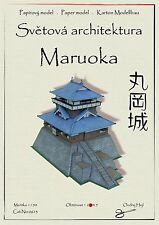 Japanese Castle Maruoka world asian architecture paper model papercraft hejl