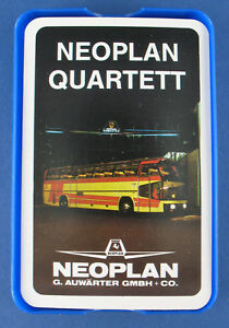 Quartett - NEOPLAN - Werbequartett - G. Auwärther GMBH + CO - Busse Reisebus Bus