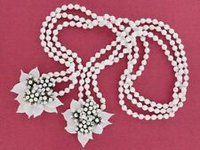 Early Miriam Haskell Milk Glass Floral Necklace (NK1699)