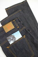 NUDIE JEANS HANK REY ORG. DRY DEEP INDIGO Men W32/L34 100% ORG Blue Jeans #1150_