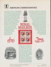 Scott 1730 -  Christmas, Rural Mailbox, RFD - 1977 - CP89 Commemorative Panel