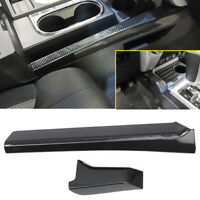 Carbon Fiber Black Side Gear Position Panel Cover Trim For Toyota Tundra 14-19