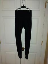 Women Lululemon Solid Black Leggings Size 2
