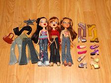 Bratz mixed Doll lot Jade Yasmin and Meygan clothes and shoes