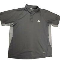 The North Face Mens XL ? Golf Polo Vaporwick Shirt Short Sleeve Black Grey *snag