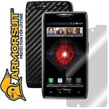 ArmorSuit MilitaryShield Motorola Droid Razr Maxx Screen + Black Carbon Skin