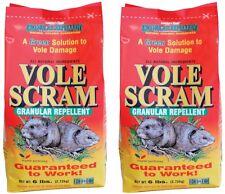 (2) bags Vole Scram 18006 6 lb Organic Natural Vole Repellent Granules