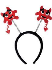 Devil Horns Red Halloween Horror Evil Headband Fancy Dress Costume Lldty F7H9
