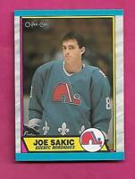 1989-90 OPC # 113 NORDIQUES JOE SAKIC ROOKIE  NRMT-MT CARD (INV# C2284)