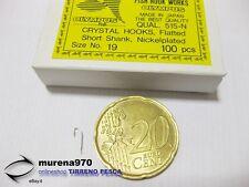 1 CONFEZIONE DA 100 AMI OLYMPUS CRYSTAL HOOKS SERIE 515-N n.19 PESCA - MU15
