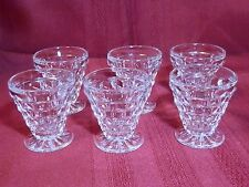 Fostoria 2056 American 6 Clear Footed Oyster Coctail Glasses