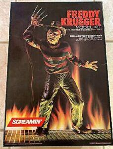 Screamin' Freddy Krueger Vinyl Model Kit -1988 Unused Ready to Assemble Complete