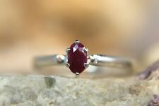 RUBY - Genuine Petite .925 Sterling July Birthstone Ring 0.15ct. FREE RESIZE