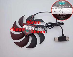 DF1401505RFMN A14015-10RA-2NN-F1 14CM 5V USB powered Notebook base cooling fan