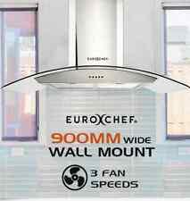 250W Wall Mount Rangehood Commercial Stainless Steel Range Hood Canopy 90cm