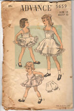 Advance 5659 Vintage 1950s Girls Petticoat Slip Panties Pattern 12