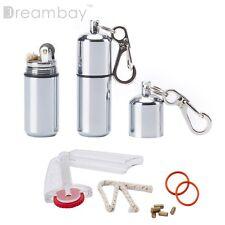 Peanut Capsule Lighter Waterproof Camp Camping Survival Emergency Keychain EDC