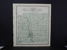 Wisconsin Green County Map 1918 Albany & Brooklyn Townships Double Sided #7