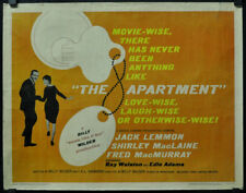 "The Apartment 1960 Original 22X28 ""B"" Movie Poster Jack Lemmon Shirley MacClaine"