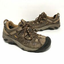Keen Mens Leather Waterproof Hiking Shoes Size 8.5 Brown