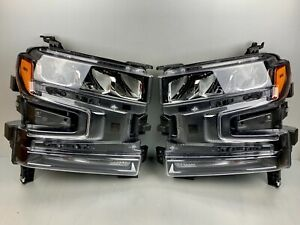 2019 2020 Chevrolet Silverado 1500 LH RH Left + Right Pair LED Headlight Set OEM