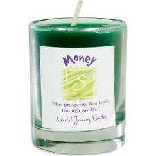 CANDLE - MONEY Herbal Magic Soy Votive in Glass Holder - from Crystal Journey